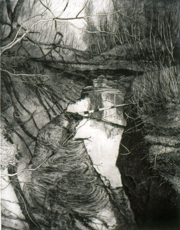 2-etching-Reflections-in-Tryon-Creek-II-1999